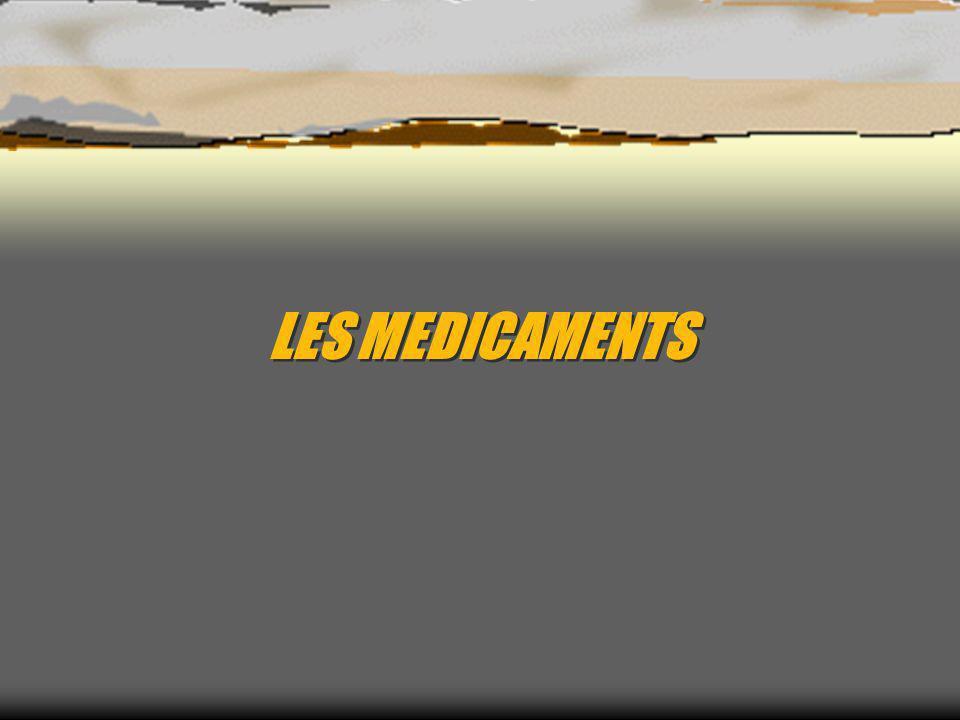 LES MEDICAMENTS