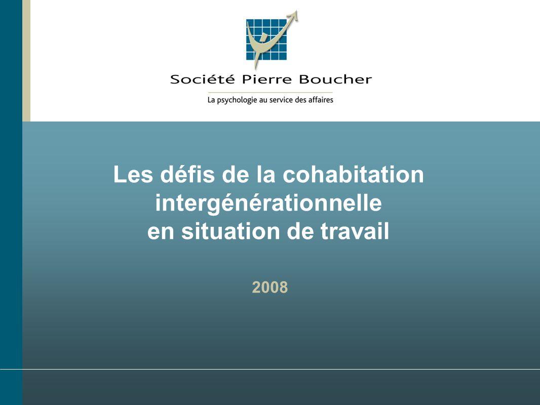 Les défis de la cohabitation intergénérationnelle en situation de travail 2008