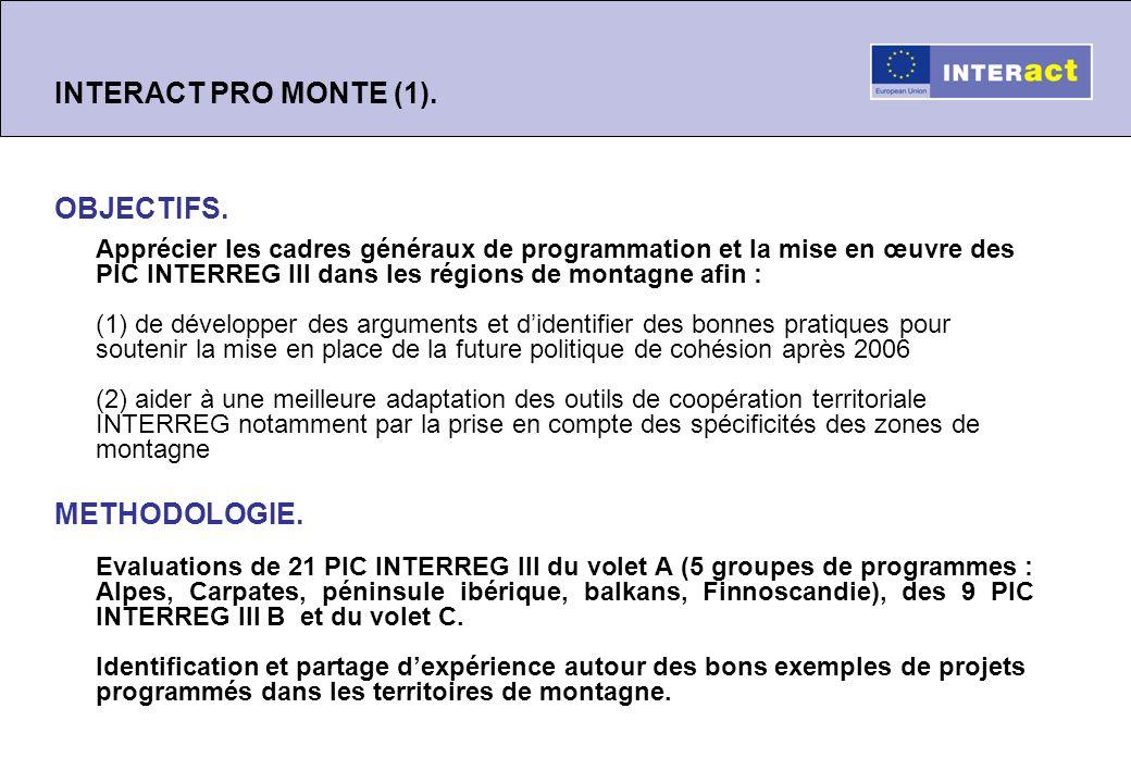 INTERACT PRO MONTE (2).Principaux constats des évaluations (1).