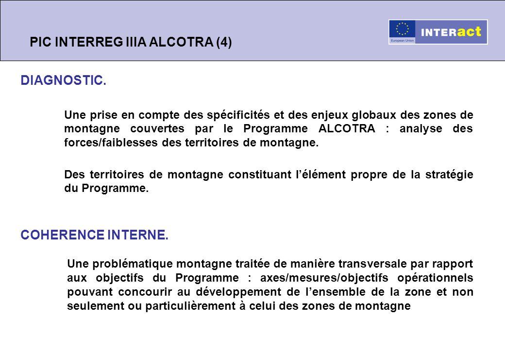 Synthèse PIC INTERREG IIIA ALCOTRA (5) CONCLUSIONS.