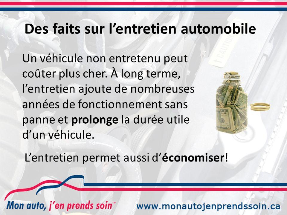 Un véhicule non entretenu peut coûter plus cher.
