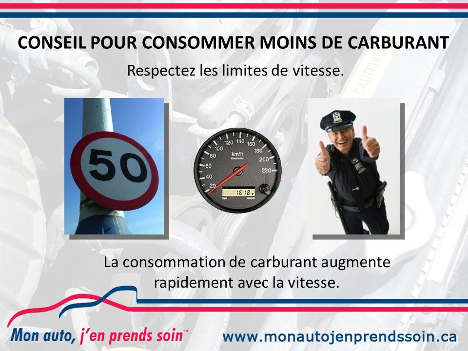 Respectez les limites de vitesse.