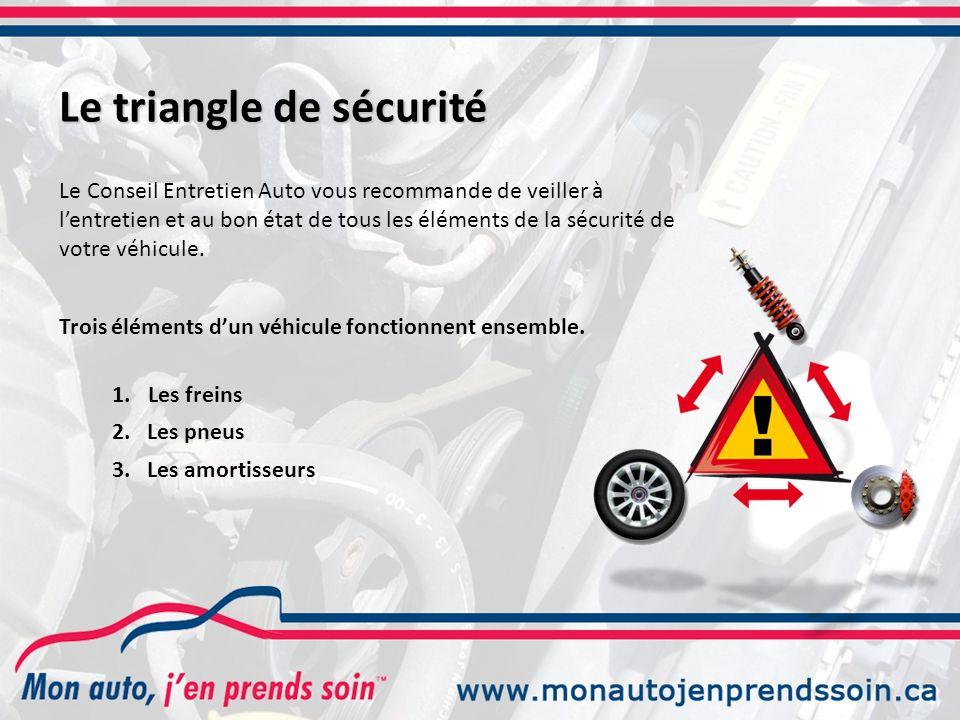 Le triangle de sécurité Le Conseil Entretien Auto vous recommande de veiller à lentretien et au bon état de tous les éléments de la sécurité de votre véhicule.