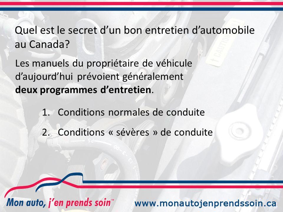 Quel est le secret dun bon entretien dautomobile au Canada.