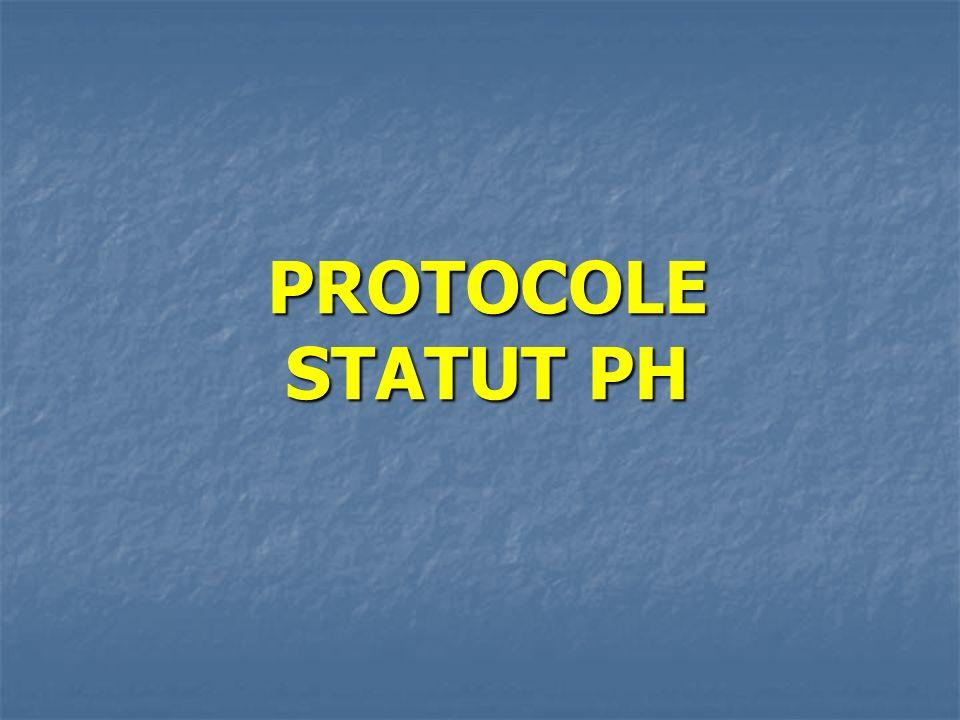 PROTOCOLE STATUT PH