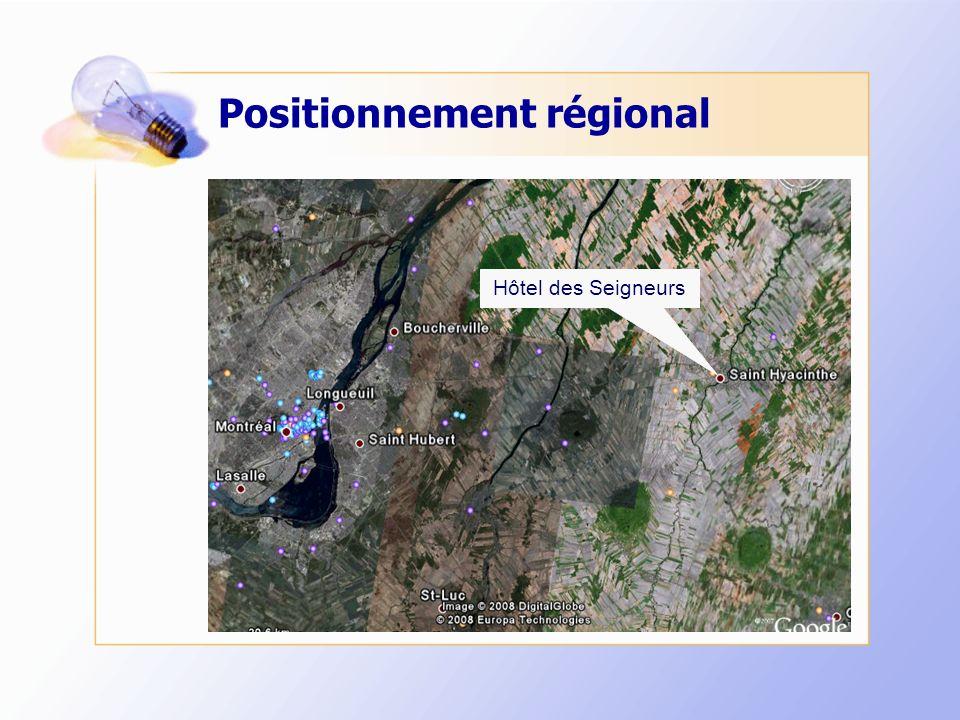 Positionnement régional Hôtel des Seigneurs