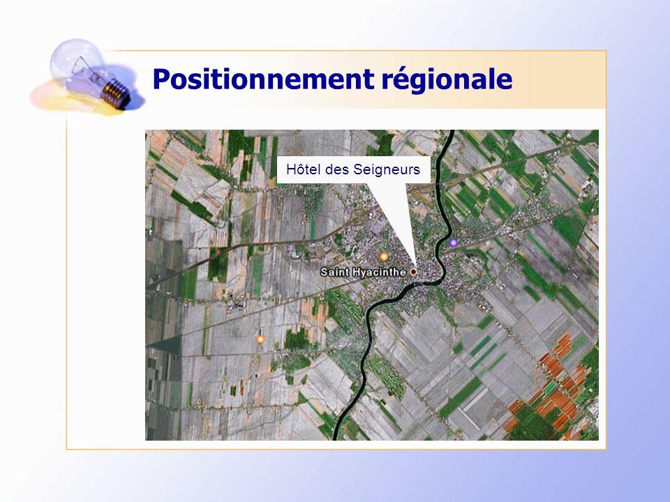 Positionnement régionale Hôtel des Seigneurs