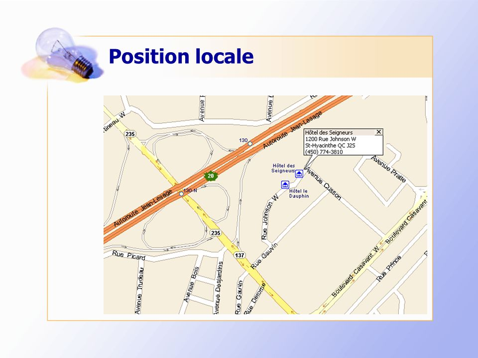Position locale