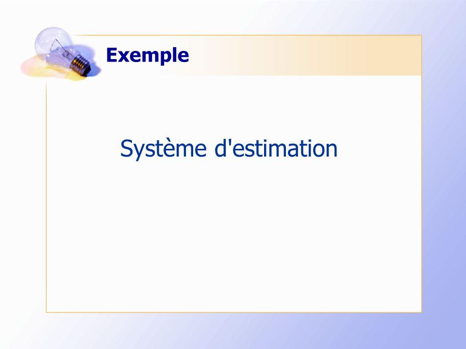 Exemple Système d estimation