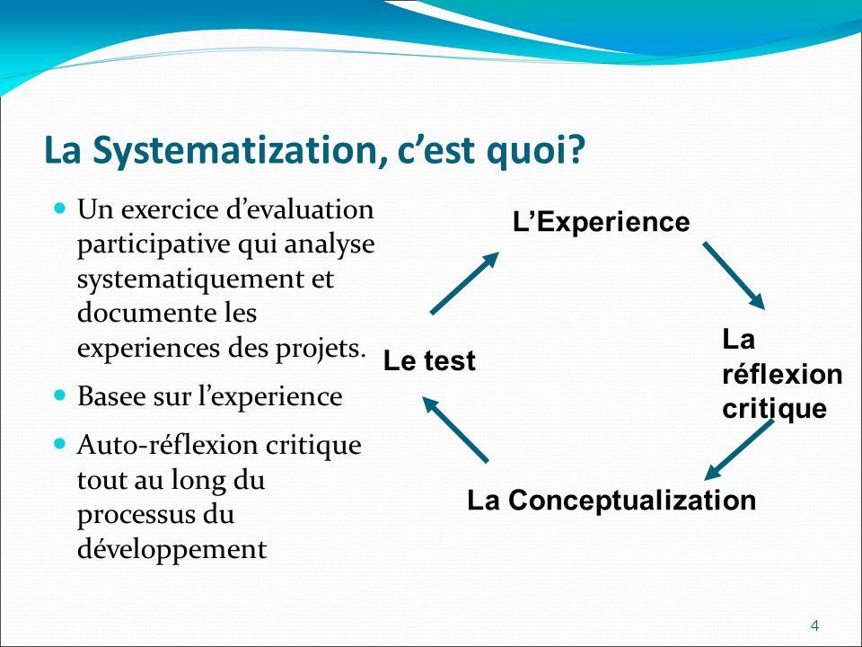 La Systematization, cest quoi.