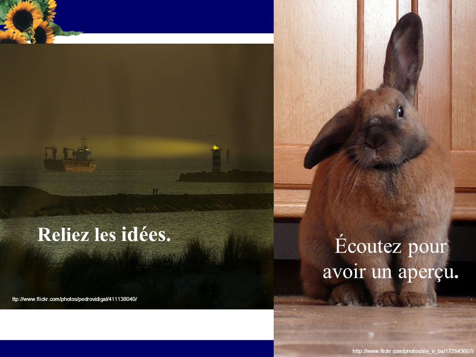 Amusez-vous Dessinez Griffonnez http://www.flickr.com/photos/ibumohd/393616097 http://www.flickr.com/photos/fiberart/487148946/ http://www.flickr.com/photos/nick_natz/2203158108/