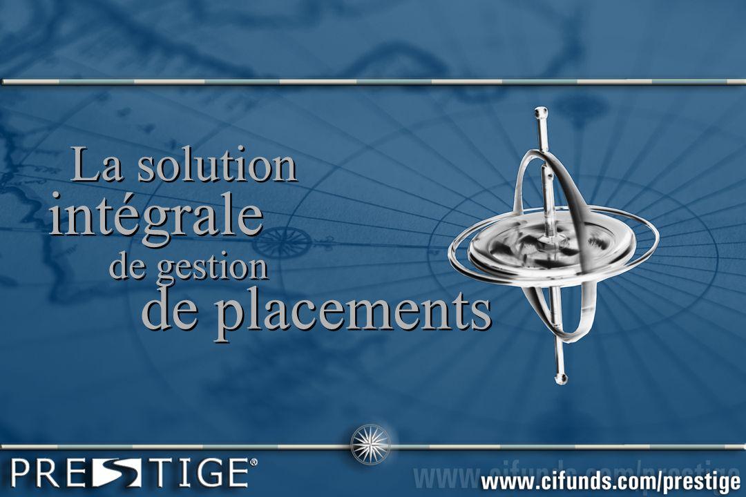 La solution intégrale La solution intégrale de gestion de placements de gestion de placements