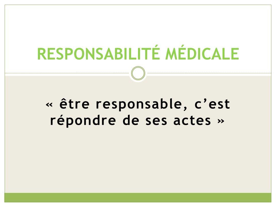 Notion complexe La responsabilité des professionnels de santé se caractérise par sa complexité puisquelle se situe à la frontière de deux domaines, juridique et médical.