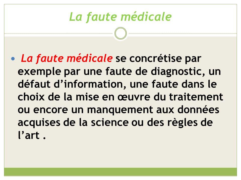 La faute médicale Retard ou défaut de diagnostic en labsence des examens médicaux nécessaires (CE, 16/11/1998, REYNIER).