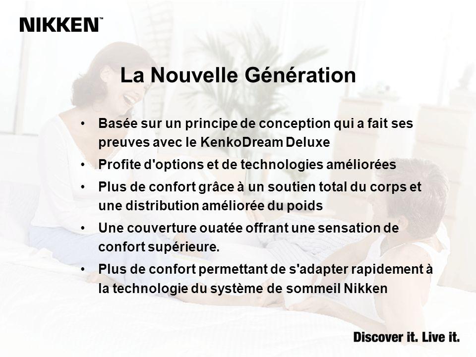 La Nouvelle Génération Basée sur un principe de conception qui a fait ses preuves avec le KenkoDream Deluxe Profite d'options et de technologies améli