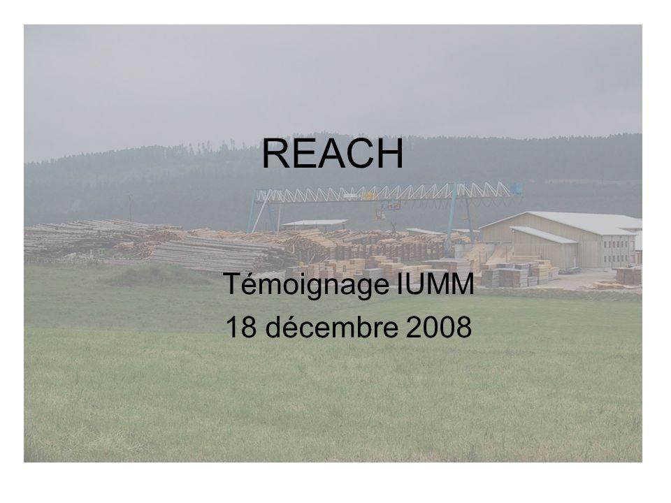 REACH Témoignage IUMM 18 décembre 2008
