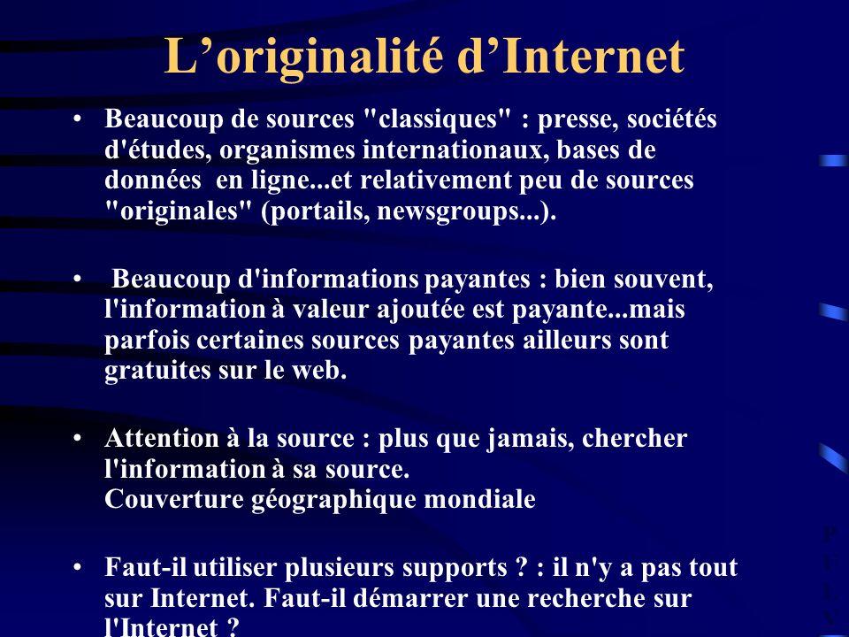 PULVPULV Loriginalité dInternet Beaucoup de sources