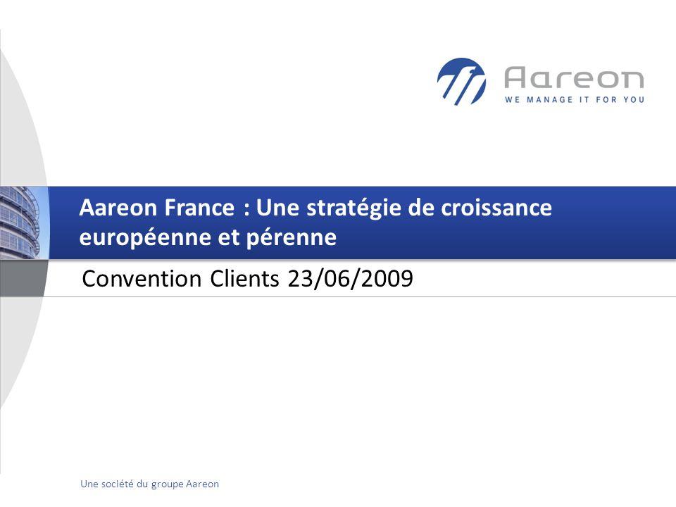 © Aareon France 1Une société du groupe Aareon Convention Clients 23/06/2009 Aareon France : Une stratégie de croissance européenne et pérenne