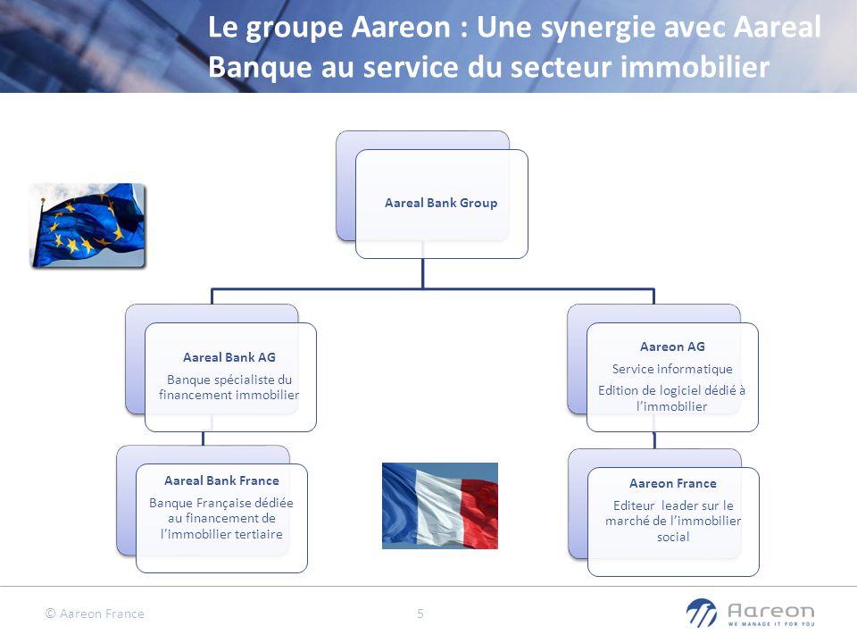 © Aareon France 5 Le groupe Aareon : Une synergie avec Aareal Banque au service du secteur immobilier Aareal Bank Group Aareal Bank AG Banque spéciali