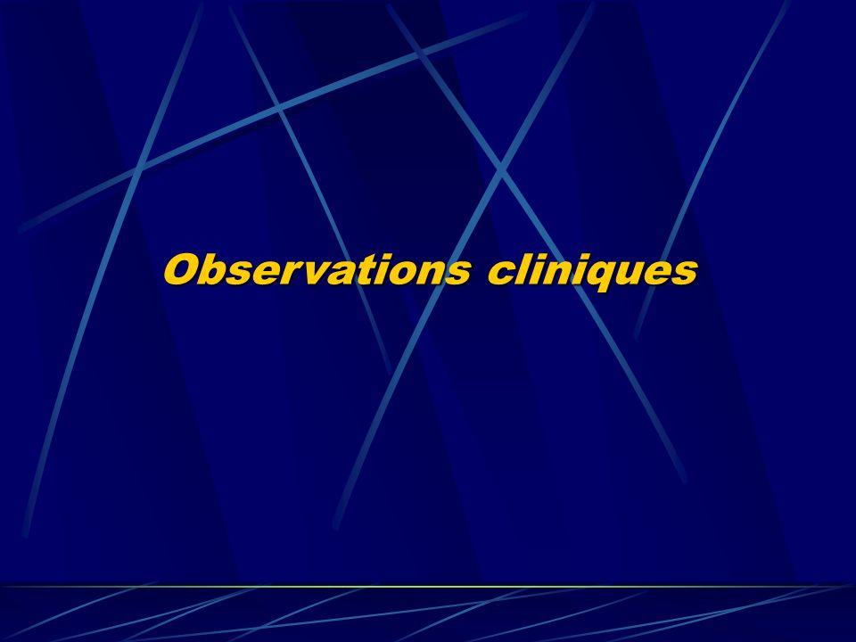 Observations cliniques