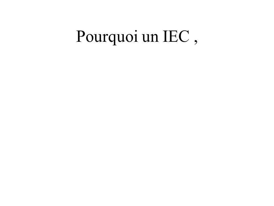 Pourquoi un IEC,