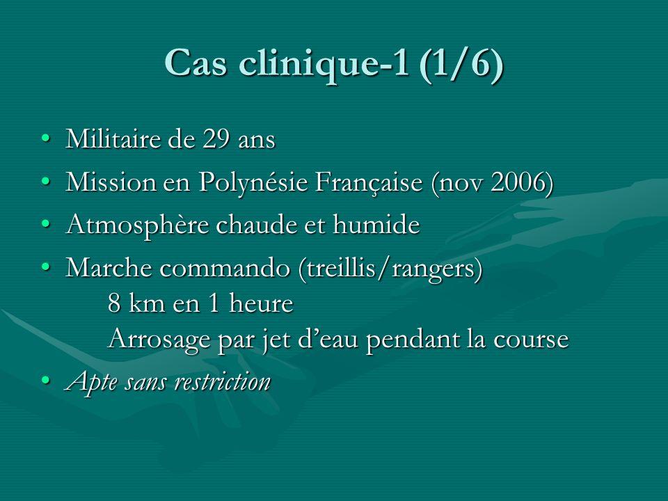 Cas clinique-1 (1/6) Militaire de 29 ansMilitaire de 29 ans Mission en Polynésie Française (nov 2006)Mission en Polynésie Française (nov 2006) Atmosph