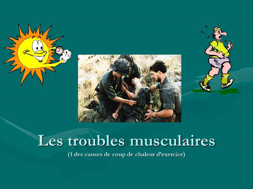 Les troubles musculaires (1 des causes de coup de chaleur dexercice) la nature de leffort