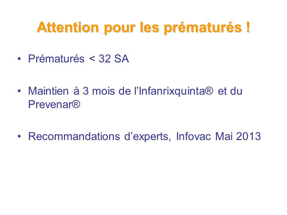Attention pour les prématurés .