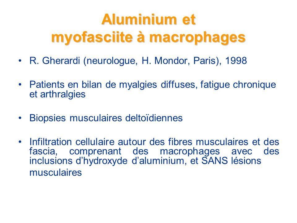 Aluminium et myofasciite à macrophages R.Gherardi (neurologue, H.