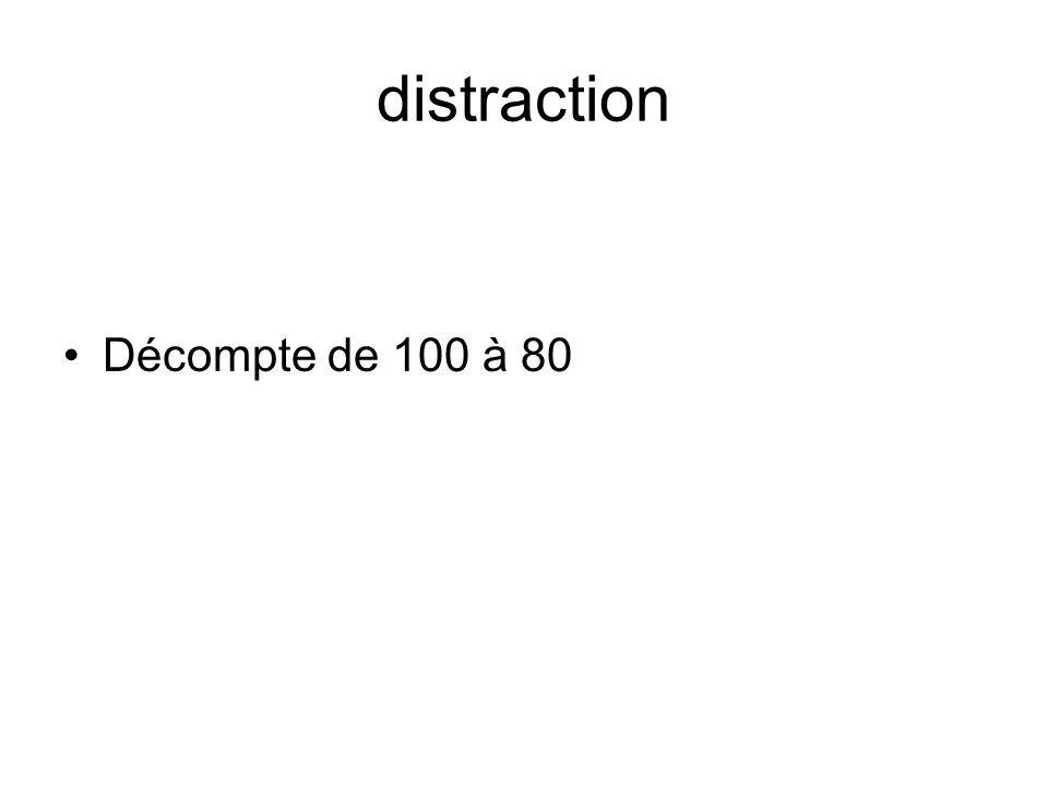 distraction Décompte de 100 à 80