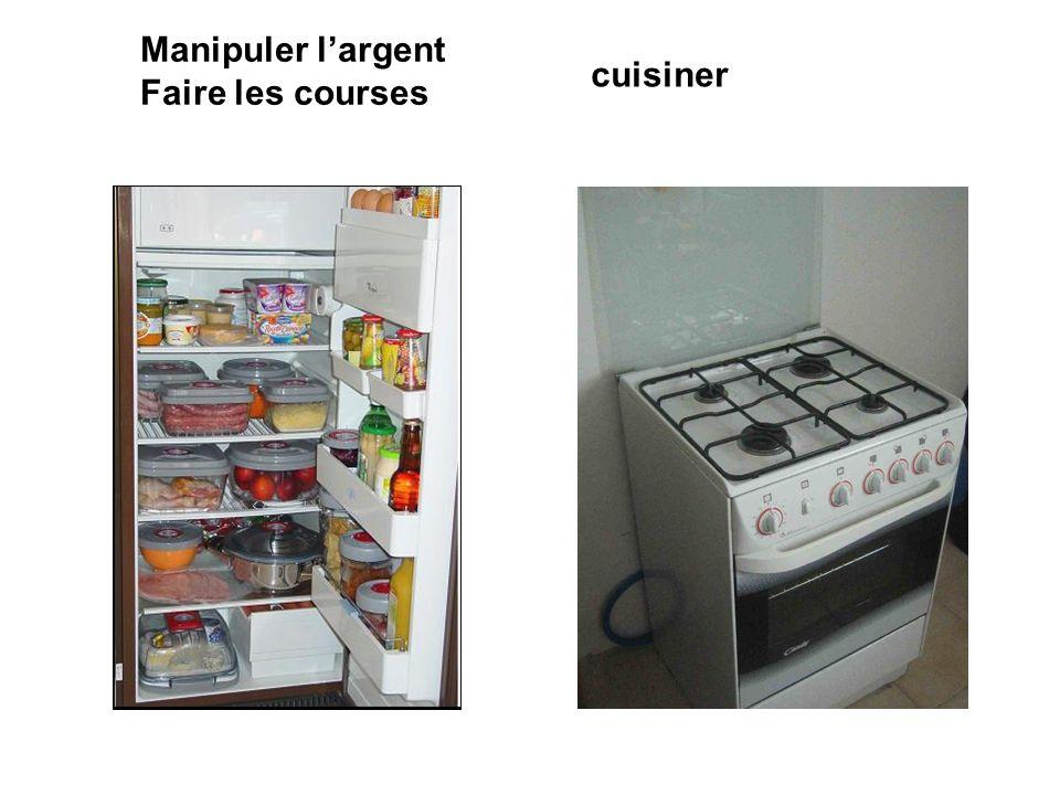 Manipuler largent Faire les courses cuisiner