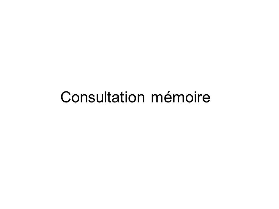 Consultation mémoire