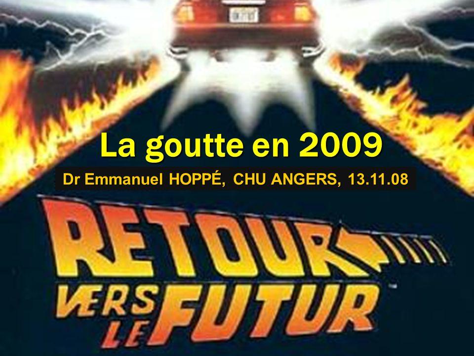 La goutte en 2009 Dr Emmanuel HOPPÉ, CHU ANGERS, 13.11.08