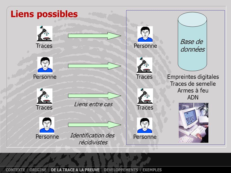 ADN : potentiel de la trace - Exemple Canada