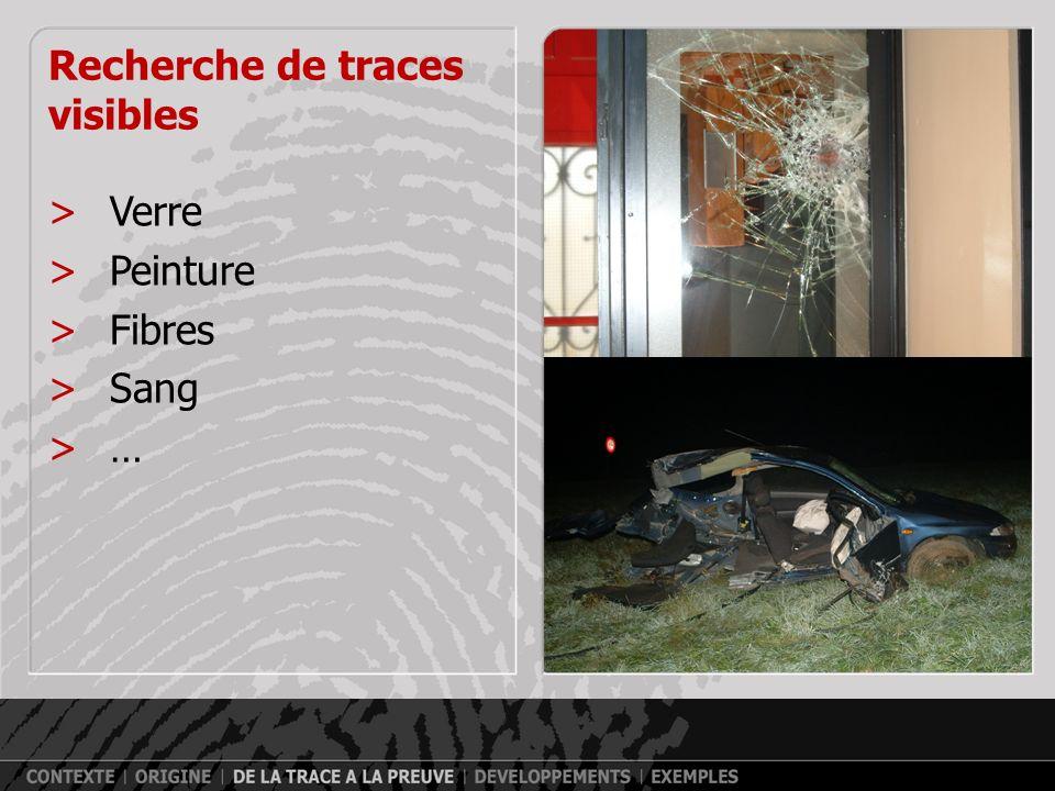 Armes à feu Projectile indiciaire Arme saisie chez le suspect >Méthodes optiques A B