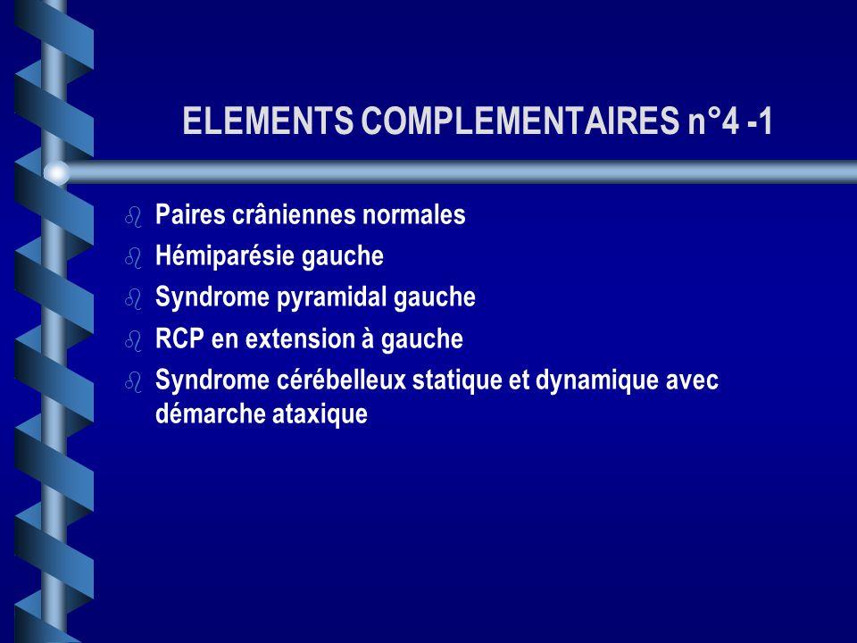 OBSERVATION 4 b b Monsieur B. R., 72 ans, aux antécédents de gammapathie monoclonale, exogénose, tabagisme, HTA, vous appelle en urgence. b b Il prése