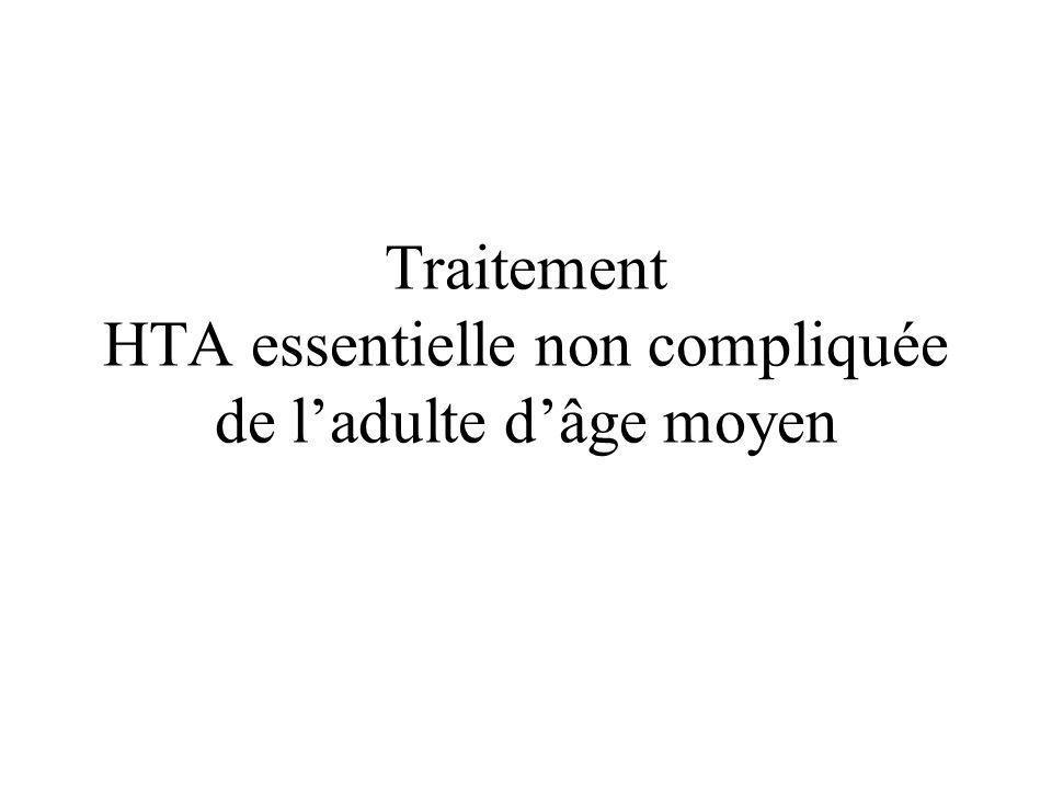 Traitement HTA essentielle non compliquée de ladulte dâge moyen