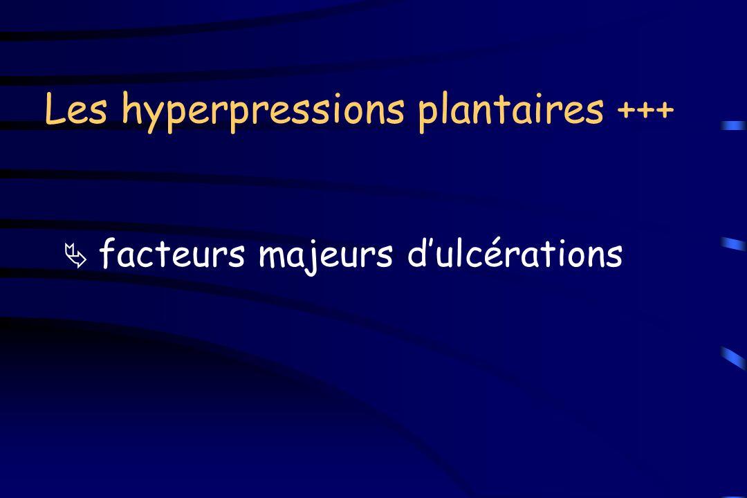 Les hyperpressions plantaires +++ facteurs majeurs dulcérations