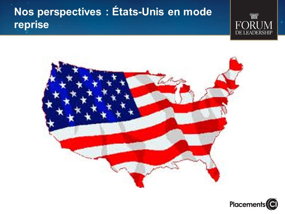 Nos perspectives : États-Unis en mode reprise