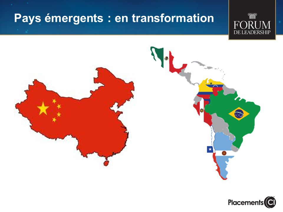 Pays émergents : en transformation