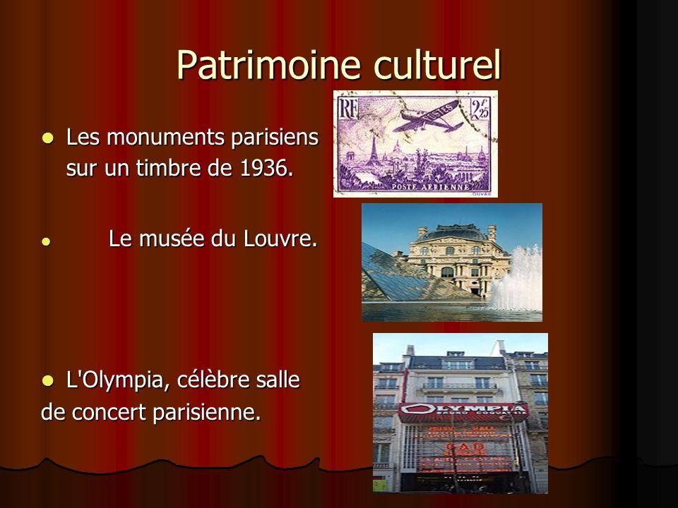 Patrimoine culturel Les monuments parisiens sur un timbre de 1936. Les monuments parisiens sur un timbre de 1936. Le musée du Louvre. Le musée du Louv