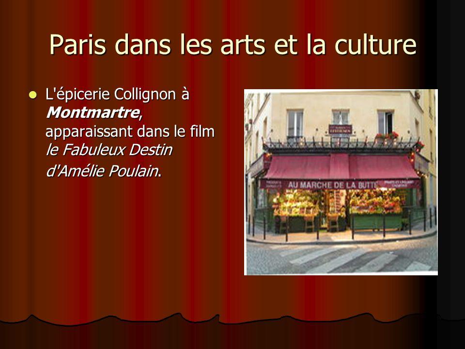 Paris dans les arts et la culture L'épicerie Collignon à Montmartre, apparaissant dans le film le Fabuleux Destin d'Amélie Poulain. L'épicerie Collign
