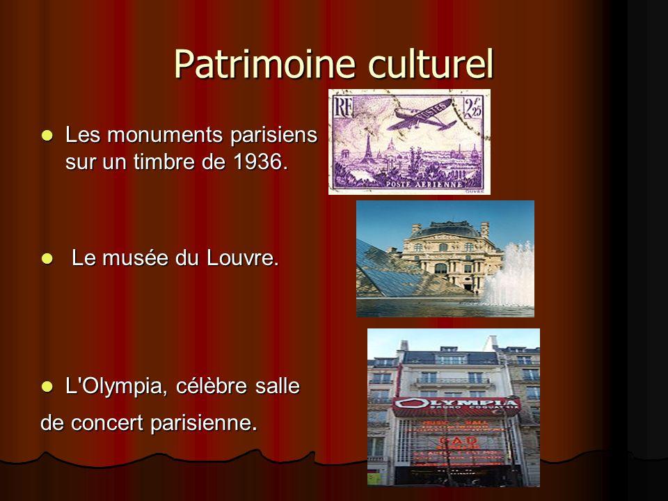Patrimoine culturel Les monuments parisiens sur un timbre de 1936.