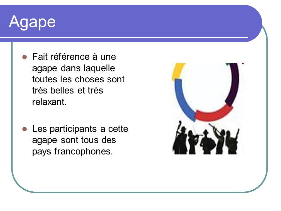 Harmonieusement Harmonie signifie la bonne entente entre les pays francophones, la paix et le bien-être de ces pays.