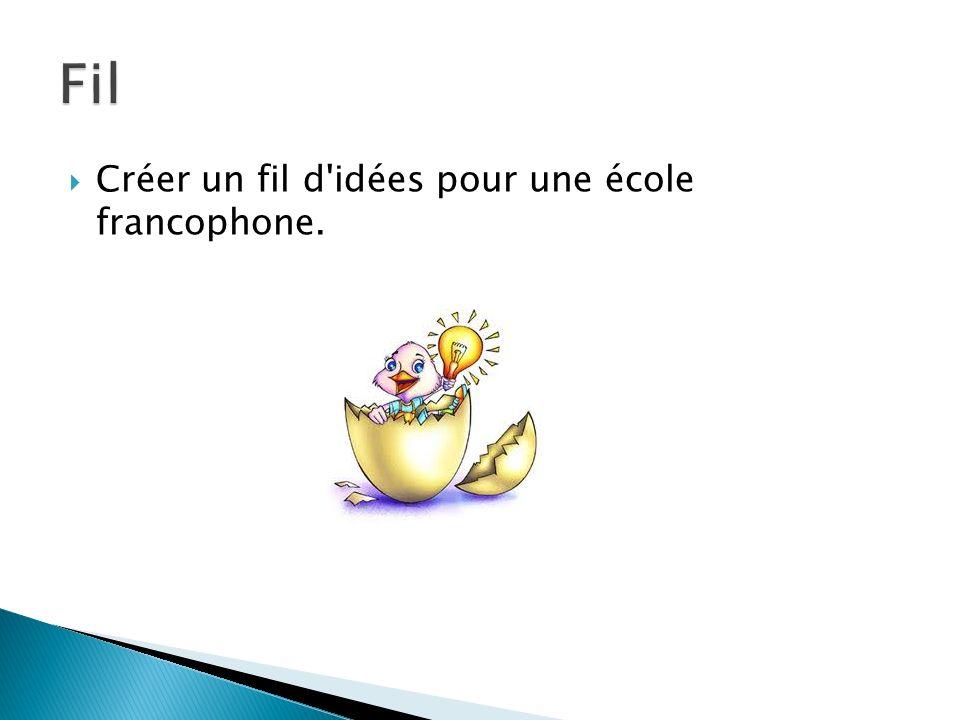 Créer un fil d'idées pour une école francophone.