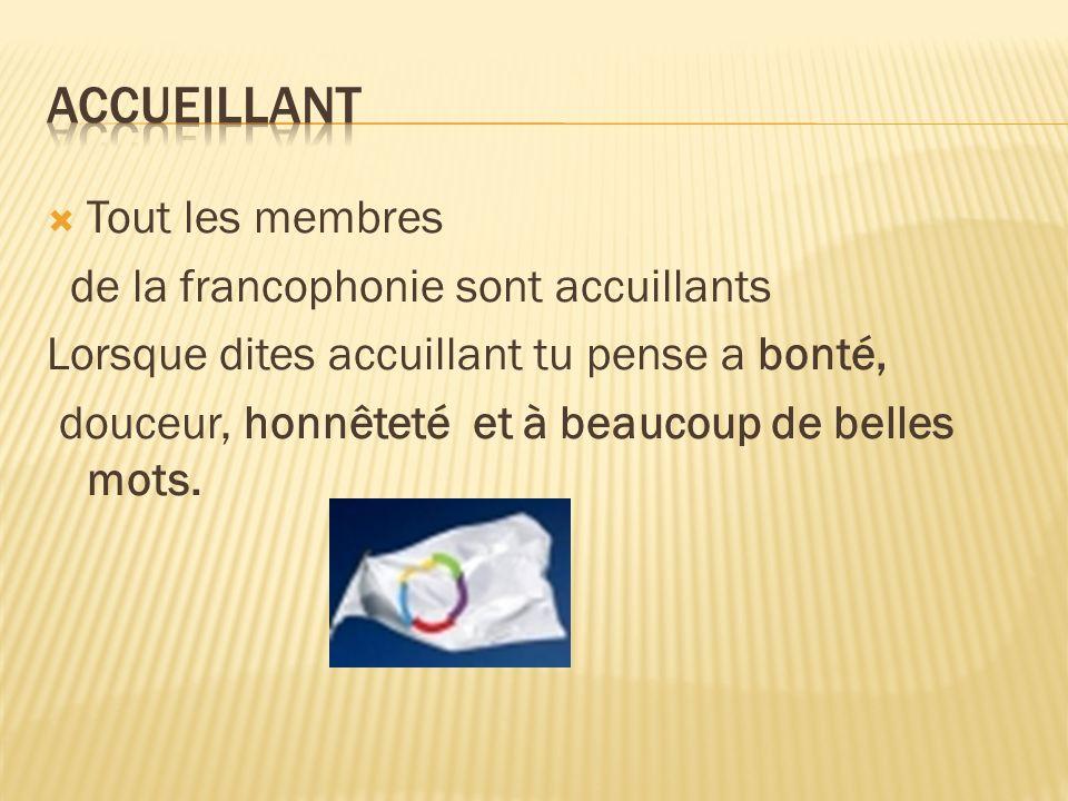 Cet mot peut a plus significations,mais les sens donnée par la francophonie est le respect,la solidarité et la communication