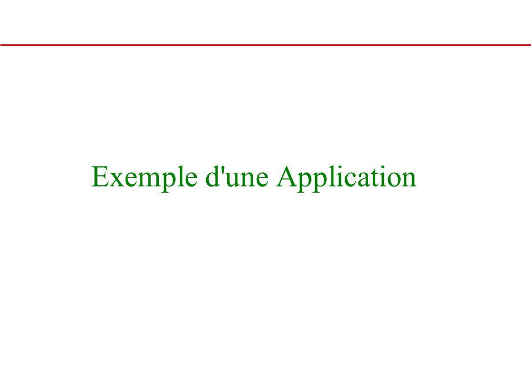 Exemple d'une Application