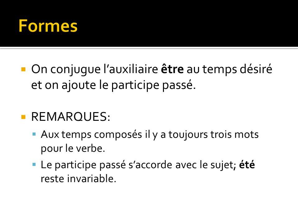 La forme passive du verbe semploie dans certaines conditions décrites dans cette présentation.