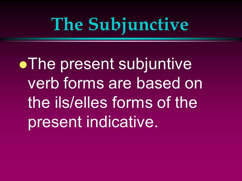 The Subjunctive l Expressions of possibility or doubt: Il est possible que Il se peut que Je ne crois pas que Je ne pense pas que Ça métonnerait que J