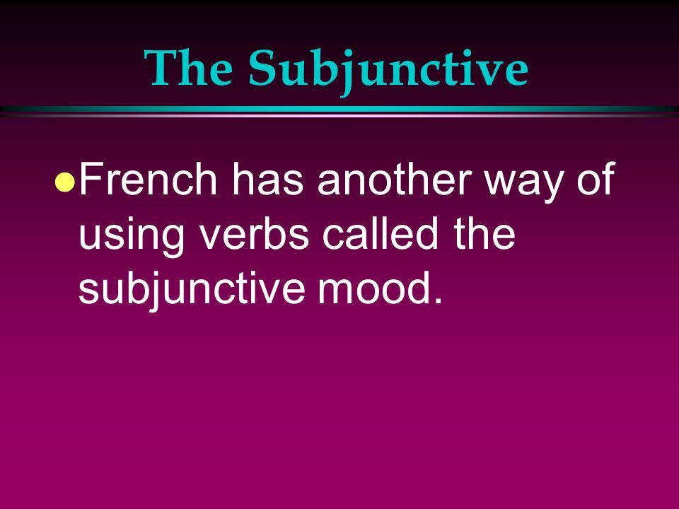 The Subjunctive l Japprends lespagnol pour le voyage à Espagne.